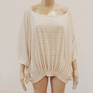 Free People | knit 3/4 sleeve team knit keyhole